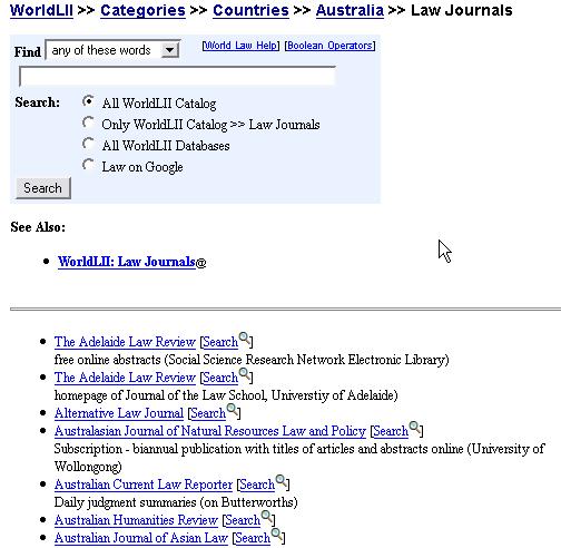 8  Other major Australian law sites